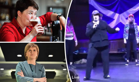 Scottish independence rally branded HOMOPHOBIC for horrendous rap about Ruth Davidson