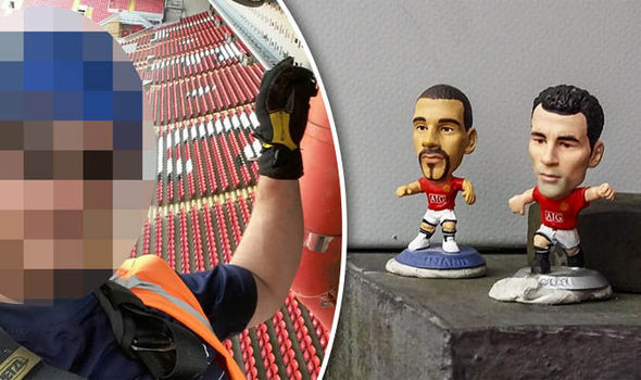Pics: Man United fan climbs on Anfield roof to troll Liverpool fans with stunning prank