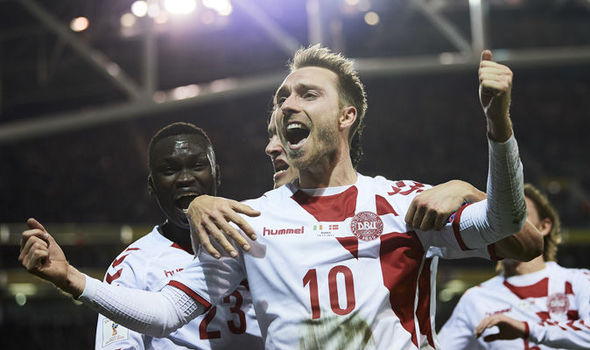 Ireland 1 - Denmark 5: Christian Eriksen sends Danes to Russia with stunning hat-trick