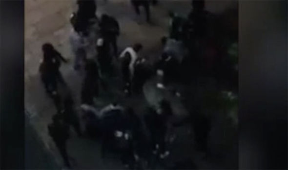 Terrifying brawl involving 100 schoolchildren in shopping centre caught in shocking video