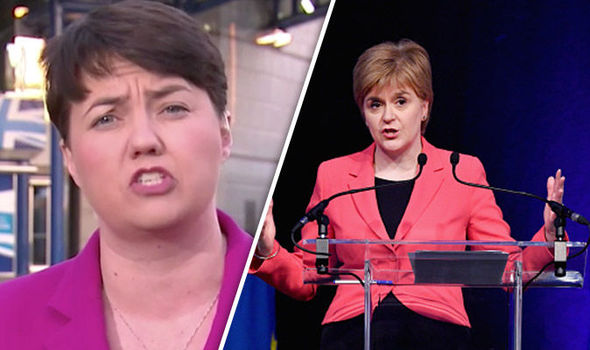 'RESPECT THE RESULT!' Ruth Davidson tells Sturgeon to 'MOVE ON' from independence dream