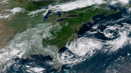 Tropical storm Chris reaches hurricane strength as it heads north toward Newfoundland