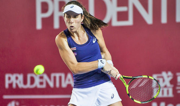 Johanna Konta still on course for WTA Finals after beating Naomi Broady at Hong Kong Open