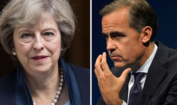 Mark Carney REFUSES to 'take instruction' from Theresa May over policies after Brexit
