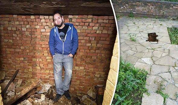 'I thought it was a sinkhole!' World War II air raid shelter found under DRIVEWAY