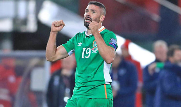 Jonathan Walters not thinking of 2018 World Cup despite Ireland sitting top of their group