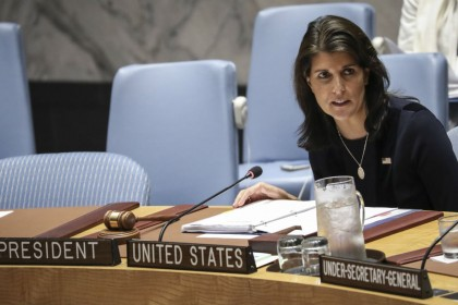 Why did Nikki Haley resign as US envoy to UN?