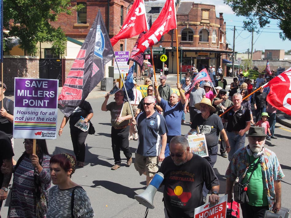 March condemns sell-off of Millers Point public housing