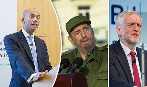 Chuka Umunna criticises Labour leadership's double standards for Fidel Castro tributes