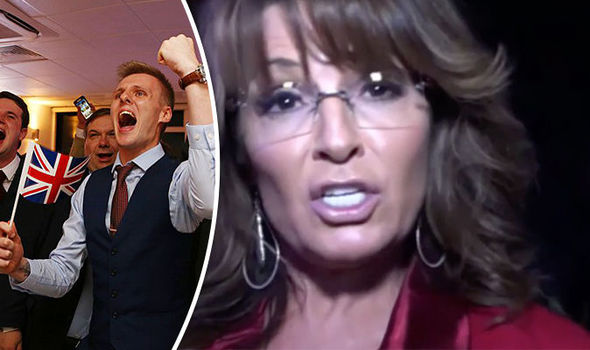 The UK and US are 'HOOKING UP' – Gleeful Sarah Palin says nations have taken back control