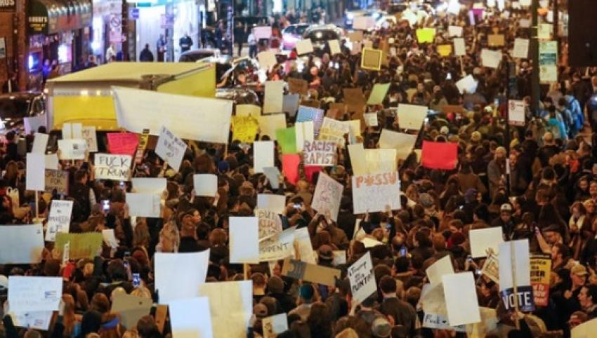 'Not My President': Thousands Across US Protest Trump Win