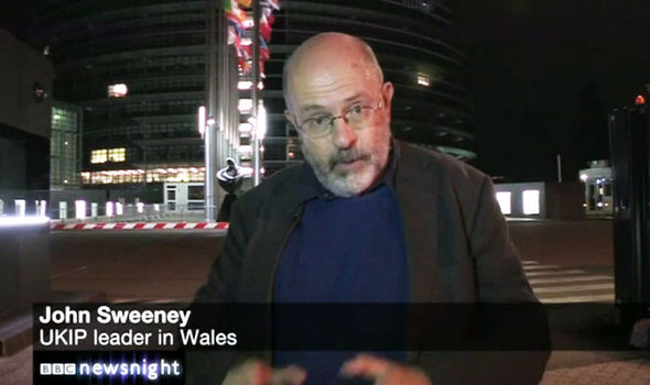 Bumbling BBC officials label reporter John Sweeney UKIP LEADER in embarrassing gaffe