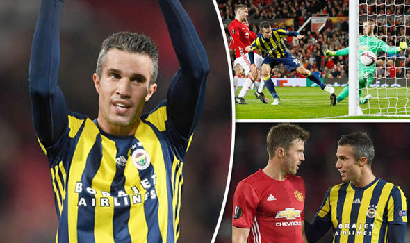 Pictures: Robin van Persie scores against Manchester United on Old Trafford return