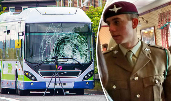 Paratrooper died after being hit by bus and two cars on night out, inquest hears