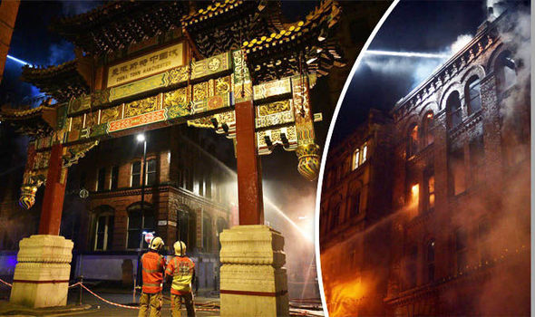 Two dead in Manchester Chinatown fire: Black Friday CHAOS as blaze rips through building