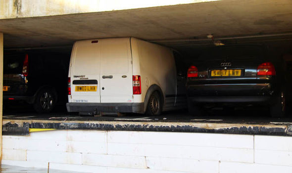 Vehicles CRUSHED by expanding foam as car park FLOODS in London