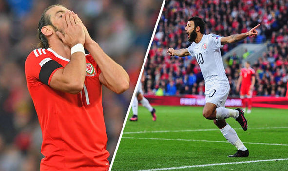 Wales 1 - Georgia 1: Dragons miss chance take charge of Group D despite Gareth Bale header