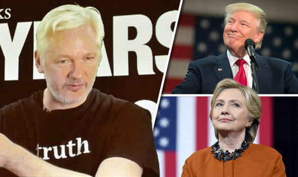 Julian Assange defends Clinton e-mails as he says WikiLeaks has NO dirt on Donald Trump
