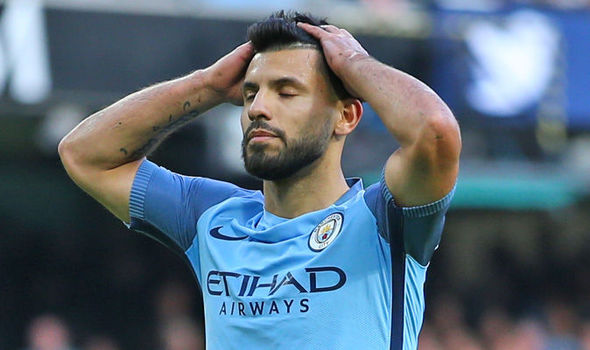 Why isn't Sergio Aguero starting for Manchester City against Barcelona?
