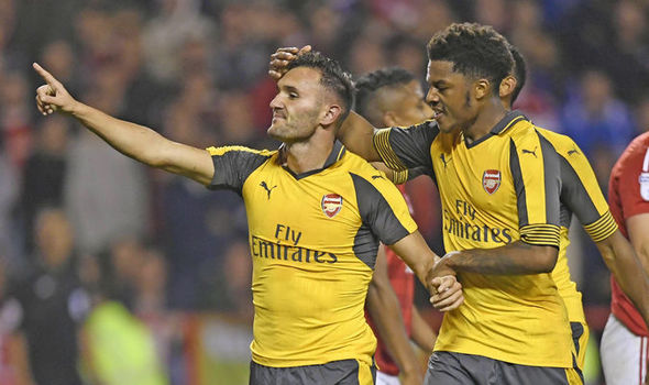 Nottm Forest 0 - Arsenal 4: Lucas Perez double helps Gunners through to next round