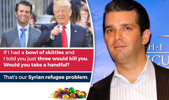 Who is Donald Trump Jr? Trump's son compares refugees to poisoned Skittles