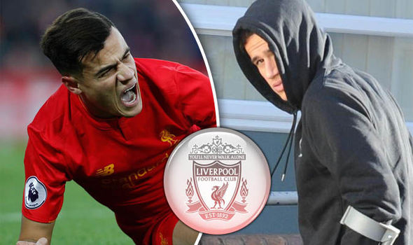 First pictures of Liverpool star Philippe Coutinho limping into hospital for injury news