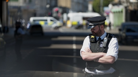 London anti-terror team investigating after van strikes pedestrians