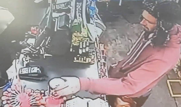 WATCH: Brazen thief steals charity collection boxes and shop assistant's wallet