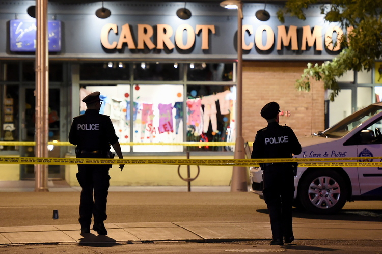 One dead and 13 injured in shooting in Toronto