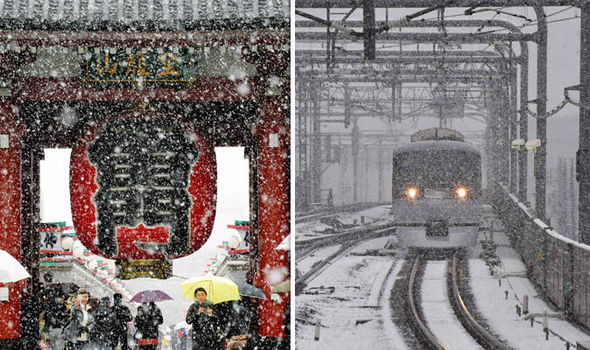 Tokyo SUFFERS first snow in 54 years – last time John F Kennedy was US President