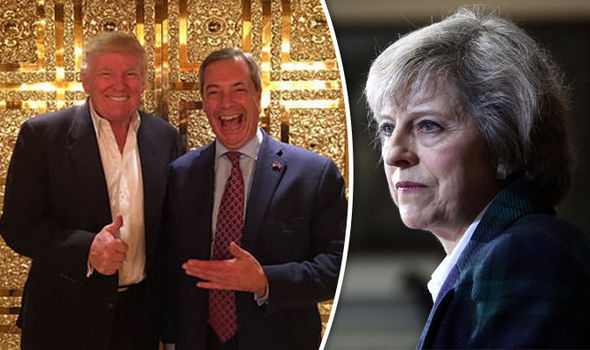 TRUMP'S MAY SNUB: New US president's chief strategist will call Nigel Farage AHEAD of PM