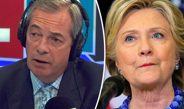 'She is AWFUL': Nigel Farage SKEWERS Hillary Clinton as email probe gives Trump huge boost