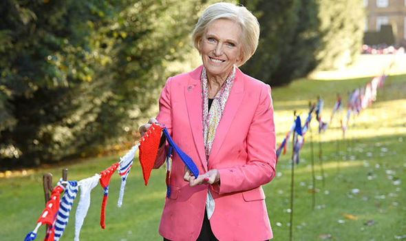 Great British KNIT Off: Mary Berry unveils world's longest ever hand-knitted bunting