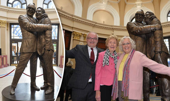 Eric Morecambe's widow burgled as she unveils statue of him