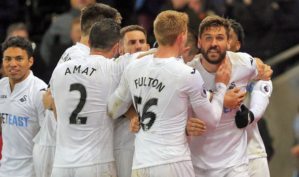 Swansea 5 - Crystal Palace 4: Bob Bradley earns first win in frantic nine-goal thriller