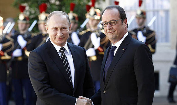 Vladimir Putin cancels Paris trip as Francois Hollande said he will only discuss Syria