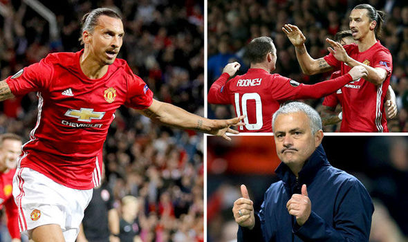 Zlatan Ibrahimovic kick-starts Man Utd's Europa League campaign on a frustrating night