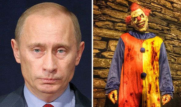 Now RUSSIA warns its citizens to BEWARE of killer clowns as they walk in British streets