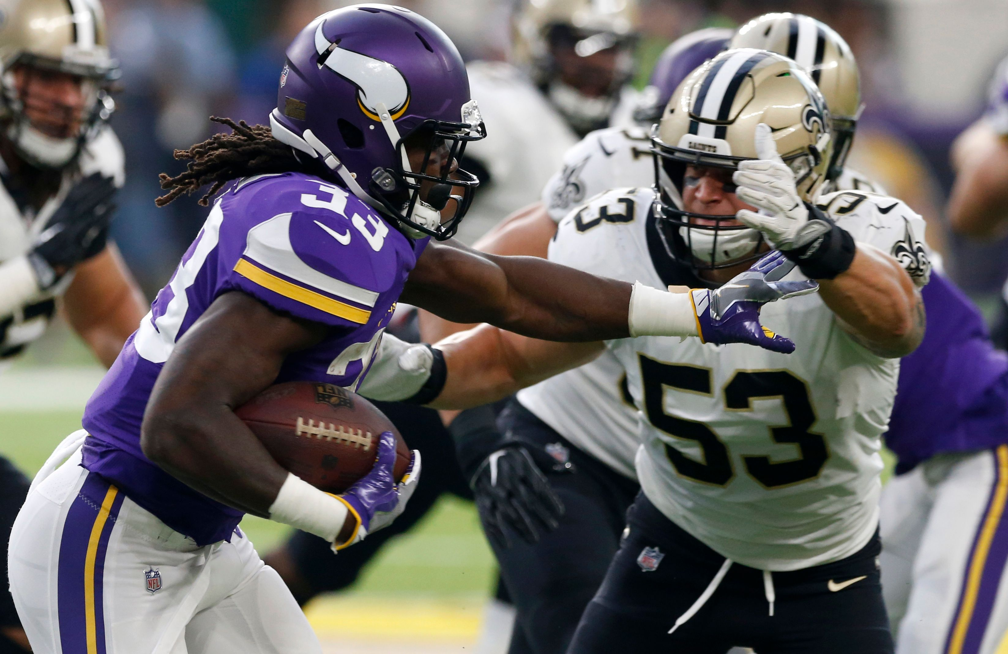 Vikings offensive line delivers solid opening performance