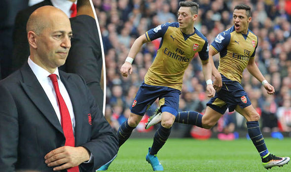 Arsenal chief Ivan Gazidis said this about new contracts for Alexis Sanchez and Mesut Ozil