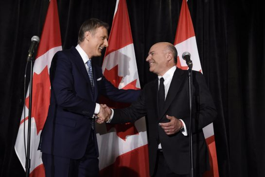 Kevin O'Leary would play a role in Conservative party if Maxime Bernier wins leadership race