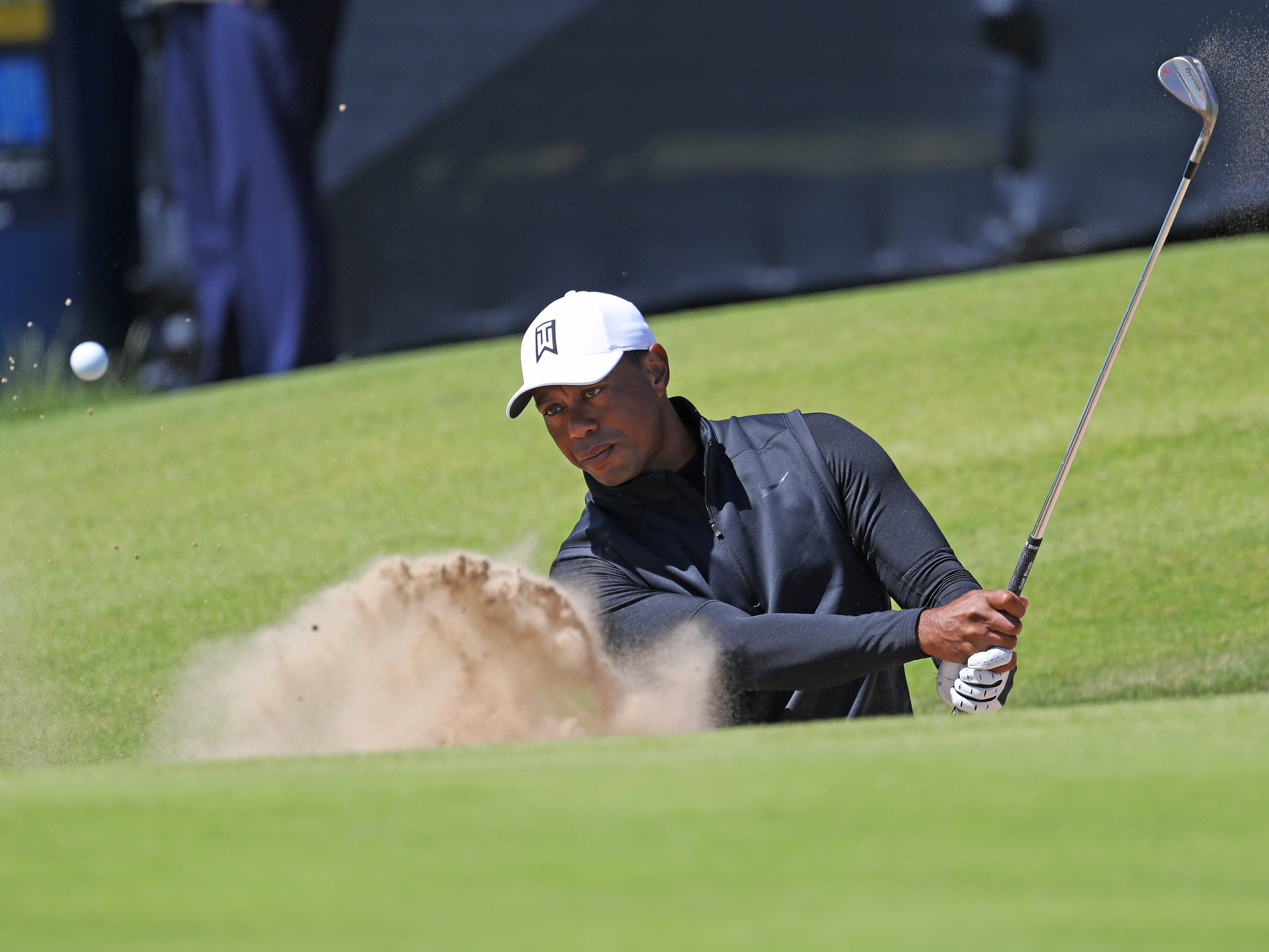 Tiger Woods gets first look at Royal Portrush for British Open
