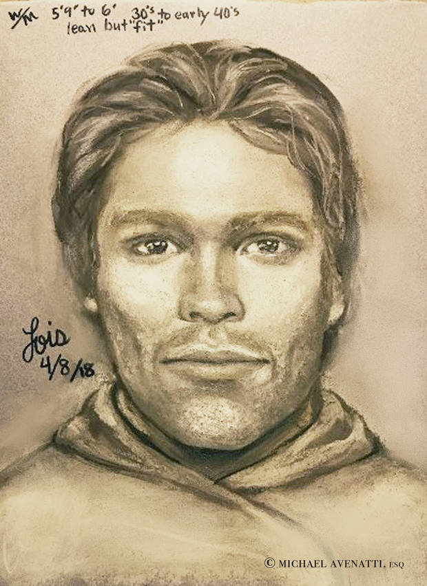 The Latest: Daniels releases sketch of man in parking lot