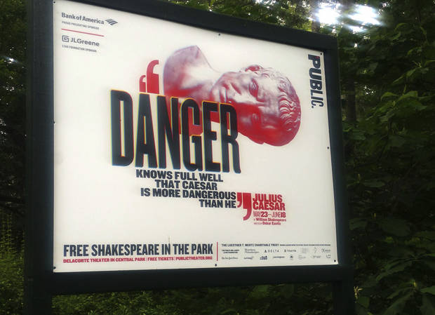 Woman arrested after storming stage during controversial 'Julius Caesar'