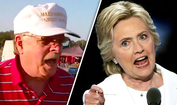 'She's going to prison!' Trump supporter warns of 'rebellion' if Clinton becomes president