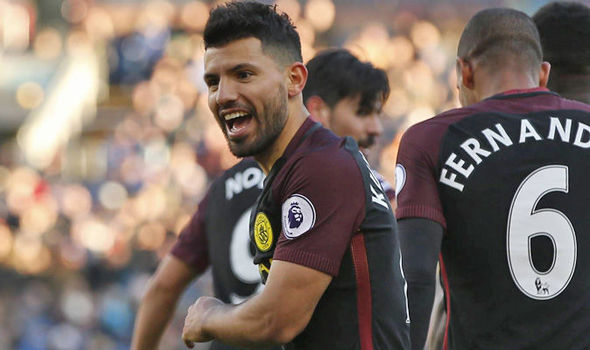Burnley 1 - Manchester City 2: Aguero's brace cancels out Marney stunner as City go top