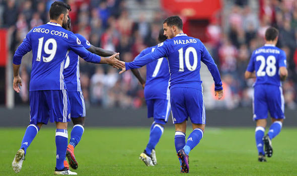 Southampton 0 - Chelsea 2: Eden Hazard and Diego Costa score in routine victory