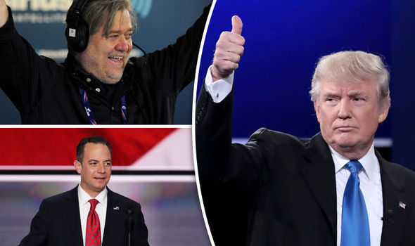 New President Trump rewards Stephen Bannon and Reince Priebus with top White House jobs